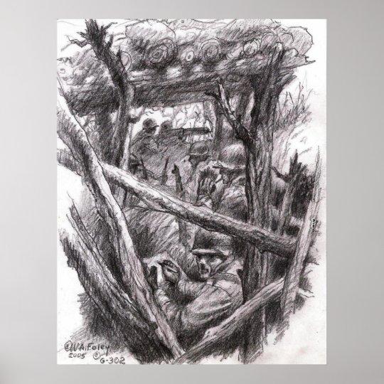 Sketch Artist Rifleman Poster
