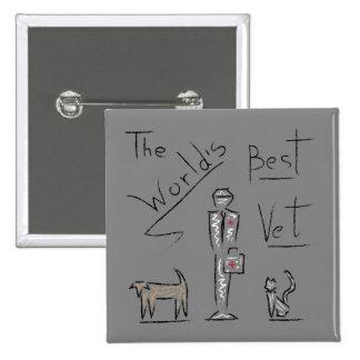 Sketch Best Vet 15 Cm Square Badge