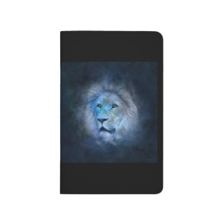 Sketch book,journal,notebook,with lion in electric journal