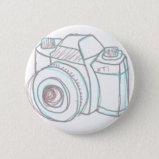 sketch camera 6 cm round badge