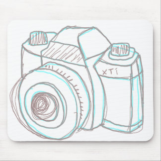 sketch camera mousepad