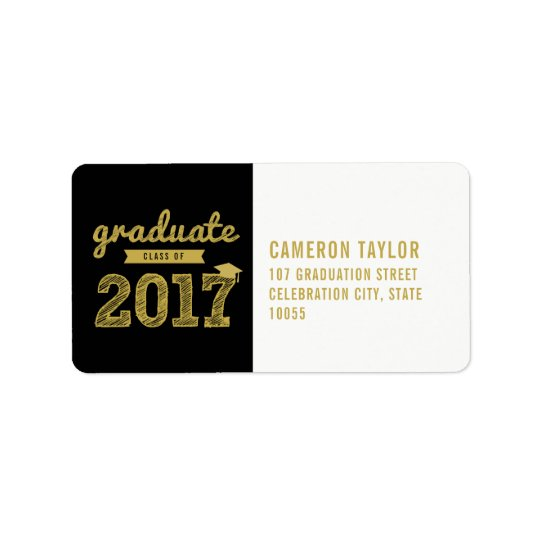 Sketch Class Of 2017 Graduation Address Labels