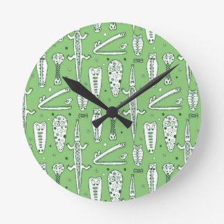Sketch Crocodile Pattern Clocks