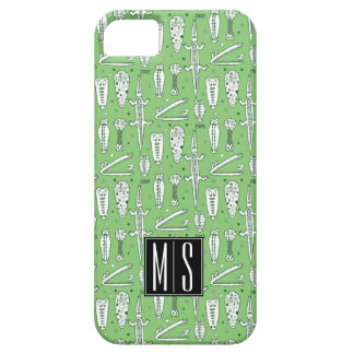 Sketch Crocodile Pattern   Monogram Case For The iPhone 5