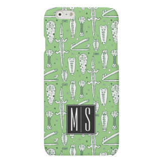 Sketch Crocodile Pattern | Monogram iPhone 6 Plus Case