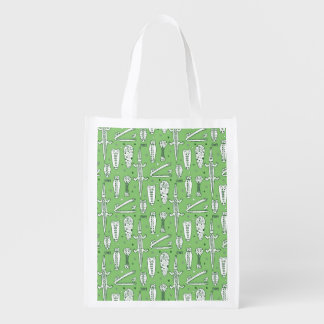 Sketch Crocodile Pattern Reusable Grocery Bag
