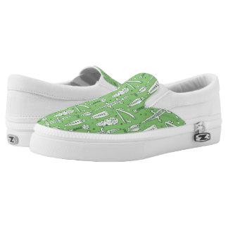 Sketch Crocodile Pattern Slip On Shoes