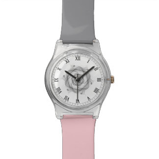Sketch Effect Abstract Rose Watch