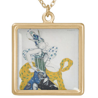 Sketch for the ballet 'La Peri', by Paul Dukas Gold Plated Necklace