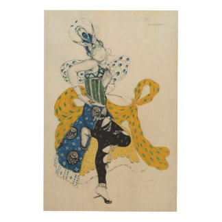 Sketch for the ballet 'La Peri', by Paul Dukas Wood Print