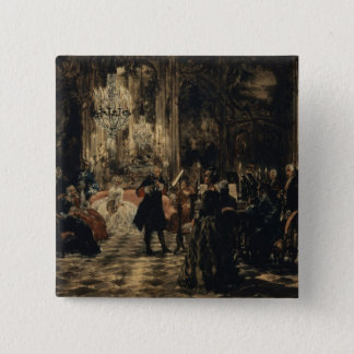 Sketch for The Flute Concert, 1852 15 Cm Square Badge