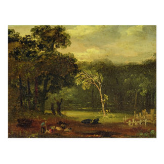 Sketch from Nature in Sion Park, 1819 (oil on card Postcard