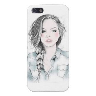 sketch girl case for iPhone 5/5S