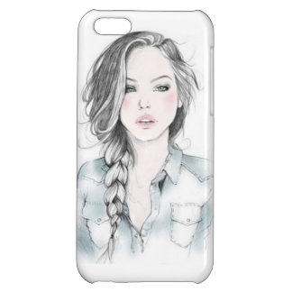 sketch girl cover for iPhone 5C