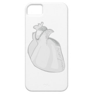 Sketch Heart Cover For iPhone 5/5S