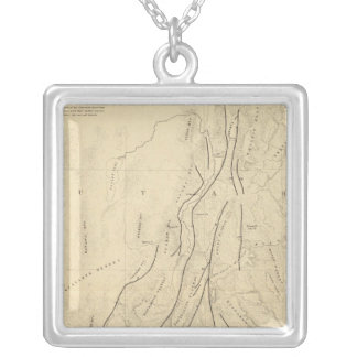 Sketch Map showing The Faults Silver Plated Necklace