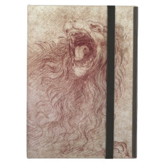 Sketch of a roaring lion (red chalk on paper) iPad air cover