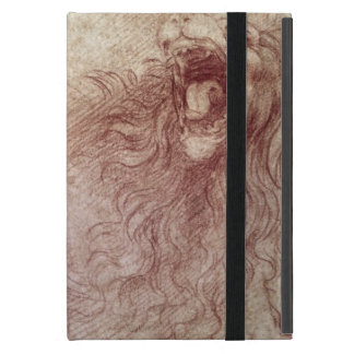 Sketch of a roaring lion (red chalk on paper) iPad mini case