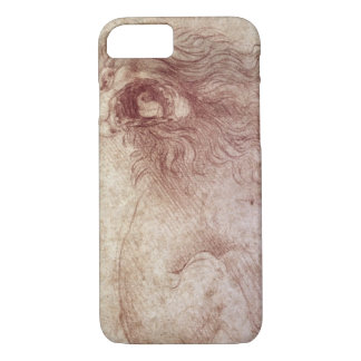 Sketch of a roaring lion (red chalk on paper) iPhone 8/7 case