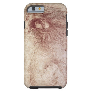 Sketch of a roaring lion (red chalk on paper) tough iPhone 6 case