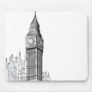 Sketch of Big Ben London Mousepads