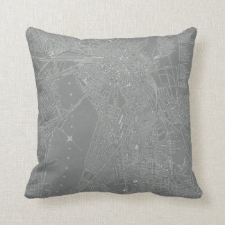 Sketch of Boston City Map Cushion