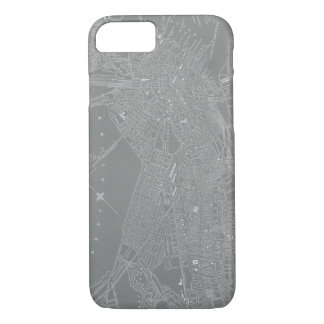 Sketch of Boston City Map iPhone 8/7 Case