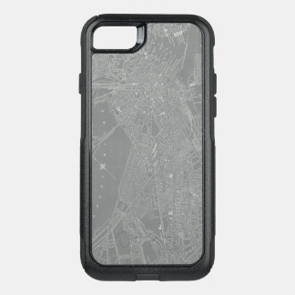 Sketch of Boston City Map OtterBox Commuter iPhone 8/7 Case
