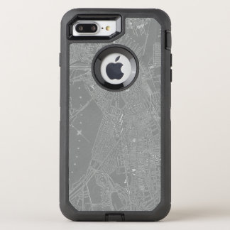 Sketch of Boston City Map OtterBox Defender iPhone 7 Plus Case