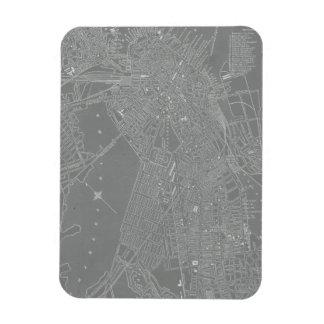 Sketch of Boston City Map Rectangular Photo Magnet