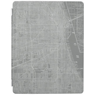 Sketch of Chicago City Map iPad Cover