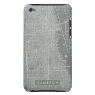 Sketch of Chicago City Map iPod Touch Case