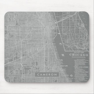 Sketch of Chicago City Map Mouse Mat