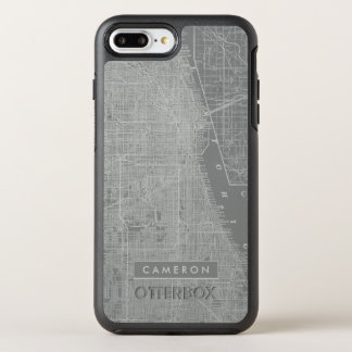 Sketch of Chicago City Map OtterBox Symmetry iPhone 7 Plus Case