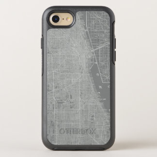 Sketch of Chicago City Map OtterBox Symmetry iPhone 8/7 Case