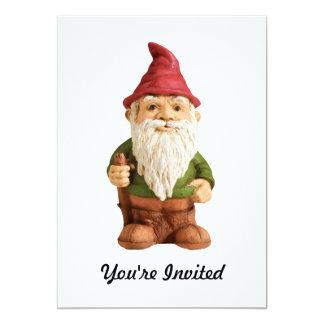 Sketch of Garden Gnome 13 Cm X 18 Cm Invitation Card