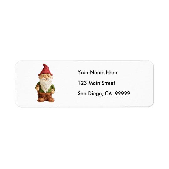 Sketch of Garden Gnome Return Address Label