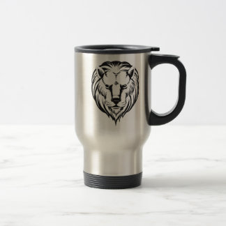 Sketch of Lion Head Stainless Steel Travel Mug