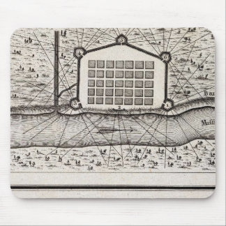 Sketch of new Orleans taken from fort St Charles Mouse Mat