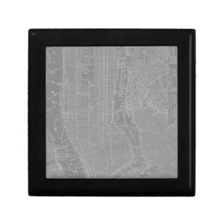 Sketch of New York City Map Gift Box