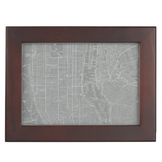 Sketch of New York City Map Keepsake Box