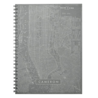 Sketch of New York City Map Note Book