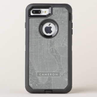 Sketch of New York City Map OtterBox Defender iPhone 7 Plus Case