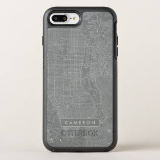 Sketch of New York City Map OtterBox Symmetry iPhone 7 Plus Case