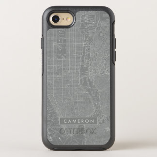 Sketch of New York City Map OtterBox Symmetry iPhone 8/7 Case