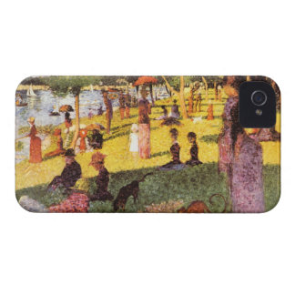 Sketch of people by Georges Seurat iPhone 4 Cases