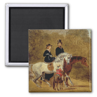 Sketch of Queen Victoria, The Prince Consort & HRH Square Magnet