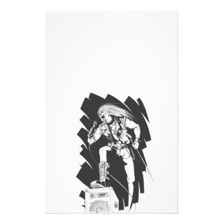 Sketch of Rocker Singing on Concert Custom Flyer