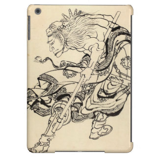 Sketch of Samurai Warrior with lion mask Hokusai Case For iPad Air