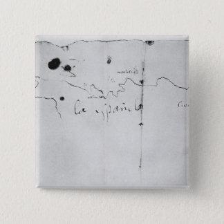 Sketch of the coast of Espanola, 15 Cm Square Badge